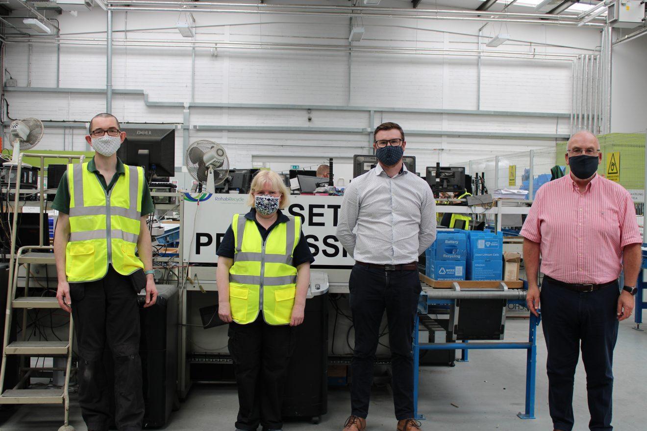 BoyleSports Rehab Recycle Partnership Left to Right James Graham Aisling Kennedy Gerry Brady Gerry Draper